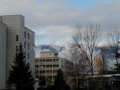 The Jura Mountains from the CERN hostel