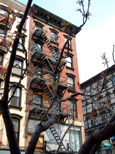 tenement building in the Lower East Side